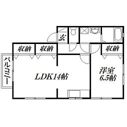 静岡県浜松市中区佐藤1丁目の賃貸アパートの間取り
