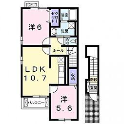 ザオバーレイIII[2階]の間取り
