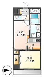 カスタリア新栄II(ロイジェント新栄I)[10階]の間取り