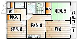 ドゥエル杉野[2階]の間取り
