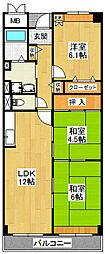 ベル・ヴィラ—ジュ北野田[2階]の間取り