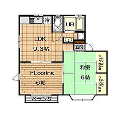 ガーデンハウス仲町台B棟[2階]の間取り