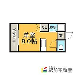 ピナクル南福岡II[201号室]の間取り