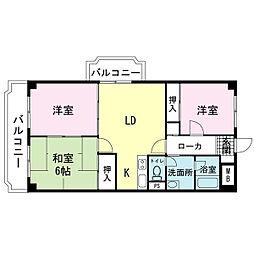 リバーサイドマンションM[1階]の間取り