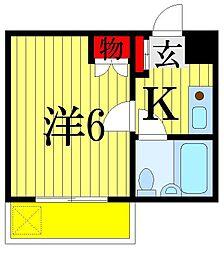 千葉県習志野市大久保1丁目の賃貸アパートの間取り