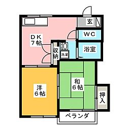 ハイツJP[1階]の間取り