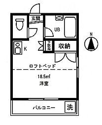 Lハイツ[1階]の間取り