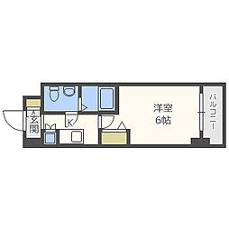 ジュネーゼグラン南堀江[3階]の間取り