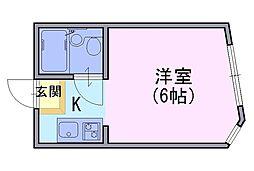 マンションシャトー[205号室]の間取り