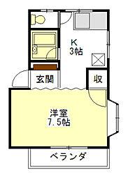桜ハイツ[1階]の間取り