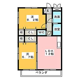 千寿パレス[1階]の間取り