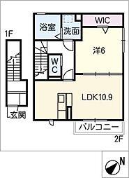 仮)D-ROOM今嶺[2階]の間取り