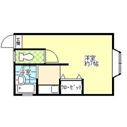 鈴木荘[102号室]の間取り