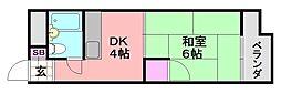 シード平野[301号室]の間取り