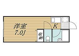千葉県市原市国分寺台中央2丁目の賃貸アパートの間取り