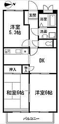 神奈川県横浜市港北区新吉田東7丁目の賃貸マンションの間取り