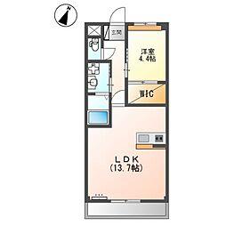 泉北高速鉄道 和泉中央駅 徒歩27分の賃貸アパート 2階1LDKの間取り