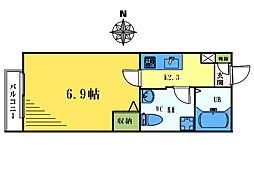 エテルナ東中野[2階]の間取り