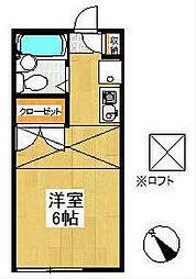 ピュア戸塚[1階]の間取り