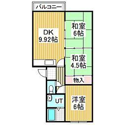 永福ハイツ[3階]の間取り