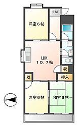 レヂデンス徳田[2階]の間取り