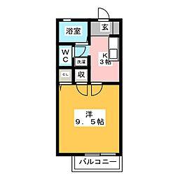 サテライトB棟[1階]の間取り