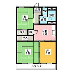 中花ビル[2階]の間取り