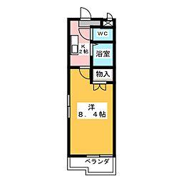 パ−クサイド高蔵寺[1階]の間取り