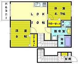 ガーデンハイムII[2階]の間取り