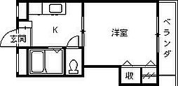 ロイヤルフォート今津[308号室]の間取り