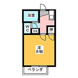 ハイツKISHI[2階]の間取り
