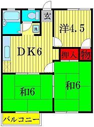 プレジール太田[2階]の間取り