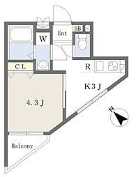 京急空港線 糀谷駅 徒歩2分の賃貸マンション 1階1Kの間取り