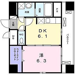 アステールI[6階]の間取り