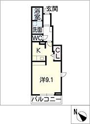 ノールフェン[1階]の間取り
