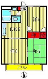 カジュアルプラザB[B303号室]の間取り