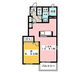 メイプルリーフ[1階]の間取り