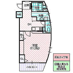ロフォス新荘 3階1DKの間取り