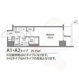 名古屋市営東山線 新栄町駅 徒歩7分の賃貸マンション 5階1Kの間取り