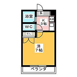 西岡崎フロイデ[2階]の間取り