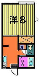 第二稲荷山ハイツB[2−F号室]の外観