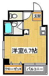 マリーナ・タカケンビルNO5[3階]の間取り