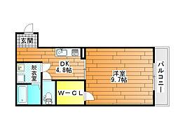 ハイツDVG[2階]の間取り