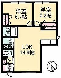 シャーメゾンイストピア[1階]の間取り