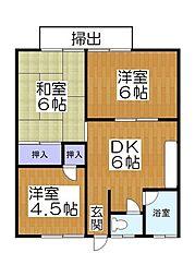 藤ハイツ3[1階]の間取り