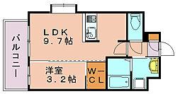 ネストピア博多祇園[8階]の間取り