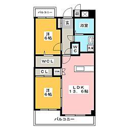 翔桜館[2階]の間取り