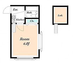 ローズアパートR1[1階]の間取り