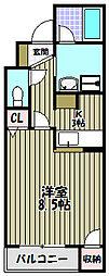 エクセル万代[2階]の間取り
