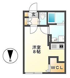 Branche桜山Chambre(ブランシェサクラヤマシャンブル)[3階]の間取り